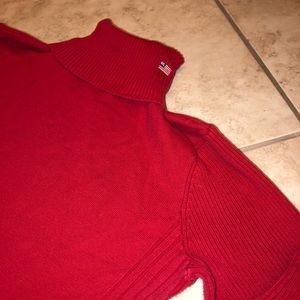 Red Polo Ralph Lauren Ribbed Turtleneck